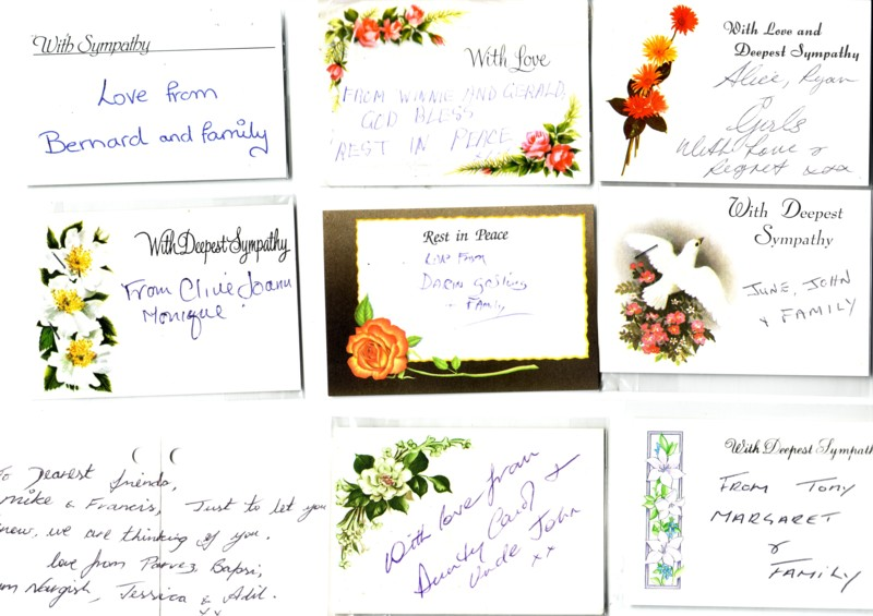 welcome to angela's photo album tribute cards sent with